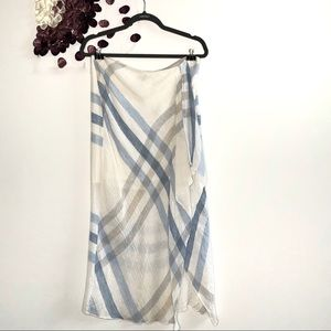 ⭐️Worth Asymmetrical Gingham Linen Blend SKirt